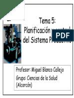 Tema 5 Planificación y Control del sistema productivo