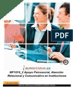 Mf1019 2 Apoyo Psicosocial Atencion Relacional Y Comunicativa en Instituciones a Distancia