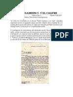 Pedro Gamboni v y El Caliche