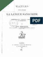 manuel pour étudier la langue sanscrite par Abel Bergaigne 1884