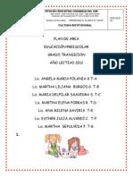 Plan Area Preescolar 2012..( Grado Transicion ).....l