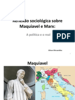 Reflexão sociológica sobre Maquiavel e Marx