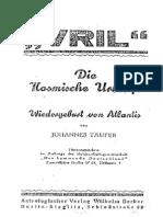 Taeufer, Johannes - Vril - Die Kosmische Urkraft (1930, 25 S.)