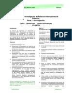 Diagnóstico e Investigación de Fallas en Interruptores de potencia