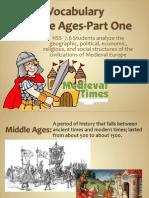 middle ages vocabulary-webquest
