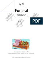 Funeral Vocabulary List Final Copy