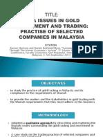 Analisis Artikel Pelaburan Emas di Malaysia