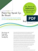 Power Up Speak Up Be Heard