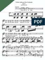Schubert - Gebet Wahrend Der Schlacht (Korner)