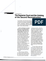 The Supreme Court and the Undoing of the Second Reconstruction