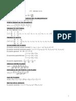 Formulas Algebra y Geometria