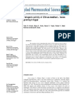 Estrogenic Activity of Citrus Medica L. Leaves