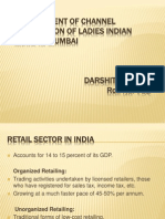 Development of channel distribution of ladies indian wear in mumbai