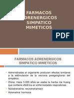 Farmacos Adrenergicos Simpatico Mimeticos