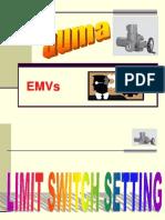 Motorized valve actuator limit setting procedure on AUMA MAKES.