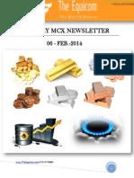 Daily MCX News Updates by TheEquicom 06-Feb-14