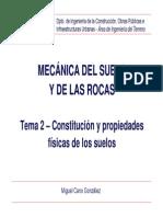 Tema 2 - Constituci¢n y propiedades fisicas de los suelos
