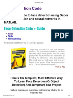Face Detection Code