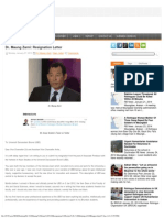 Dr. Maung Zarni Resignation Letter to UBD, BRUNEI
