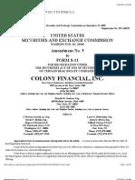 Colony Financial, Inc. SEC Form S-11