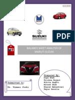 30030753 Balance Sheet Analysis of Maruti Suzuki