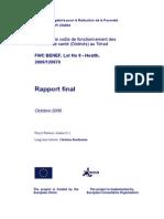 Projet d'Appui Budgétaire pour la Réduction de la Pauvreté PABRP  9/ACP/ CD/004 Etude sur le coûts de fonctionnement des services de santé (Districts) au Tchad