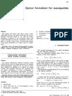 Spinor Formalism for Waveguides [Pierre Hillion, Solange Quinnez; Ann.telecomm. 1985.40.5-6]