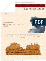 Pharr Homer and the Study of Greek