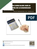 Réponse au livre blanc pour le  financement de la  transition écologique (janvier 2014)
