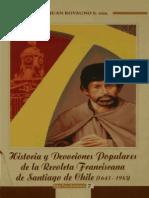 Recoleta Franciscana, Historia y  Devocion Popular, 1643 1985