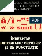 ACADEMIA ROMANA, Indreptar Ortografic, Ortoepic Si de Punctuatie