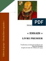 1580 - 1588 - Montaigne - Essais I - F Moderne