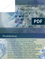 Teknik Hedging Pada PT. Indosat Tbk Dan PT Elangperdana Tyre
