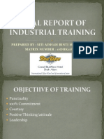Final Report of Industrial Training Presentation