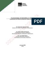 Plan Nacional de Desarrollo Urbano - Territorio Para Todos Lineamientos de Política 2006-2015
