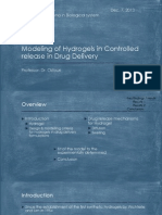 Modeling of Hydrogels in Controlled Release in Drug