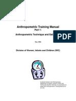 Anthropometric Training Manual