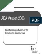 Ada 2006 claim form
