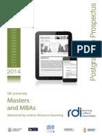RDI Postgraduate Prospectus