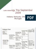 Genealogy Trip September 2009 Revised