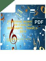1º FESTIVAL MUNICIPAL DE CANÇÃO ESTUDANTIL - CAPA