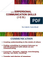 Interpersonal Communication Skills -ICS