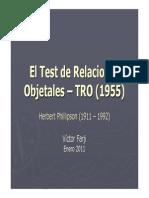El Test de Relaciones Objetales - TRO