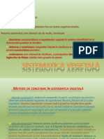 CURS 1 Sistematica