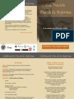 Dia de La Reforma 2012 Diptico