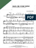 Come Rain or Come Shine [Songsheet]
