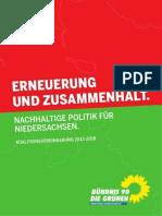 Koalitonsvereinbarung der Jahre 2013-2018