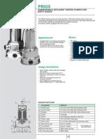 Pompa Drenaj Priox - Carte Tehnica