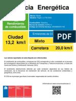 Etiqueta Eficiencia Energetica Vf Rapid 1.4 Tsi Dsg