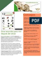 Newsletter Curados de Cáncer Febrero 2011